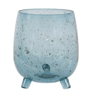 Alon Seeded Glass Vase, Azul