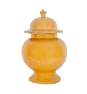 Misha Stoneware Ginger Jar, Gold -M