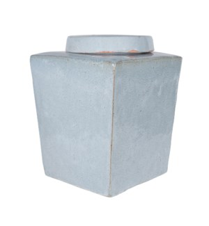 Leif Stoneware Tea Box, Light Grey - L
