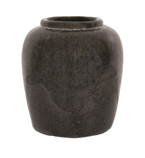 Thea Stoneware Vase,   Light Gray - M