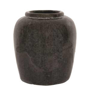 Thea Stoneware Vase, Light Gray - L