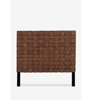 (LS) Headboard Abaca Wicker Mix A Queen (62X2X60) Abaca rope + wicker, Square Weave, Natural