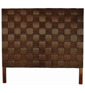 Headboard Square Dark Brown B King (77x2x72)