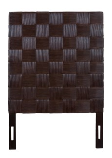 (LS) Headboard Square Dark Brown B TW (41.3x2.4x60)