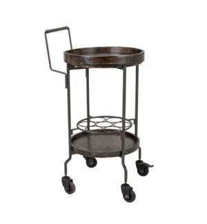 Dray Rolling Bar Cart, Charcoal