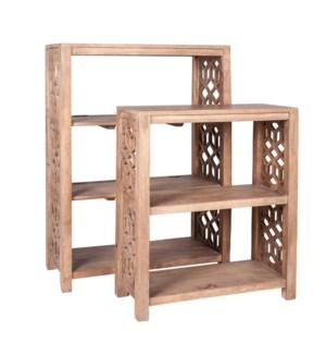 Stack Mango Wood Book Shelves