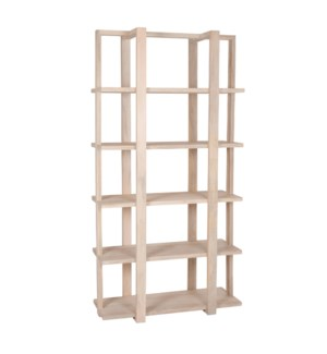 "Harris 74"" Shelf, White Washed Mango"