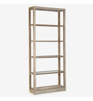 "87"" Wythe Wooden Bookshelf, Brown"