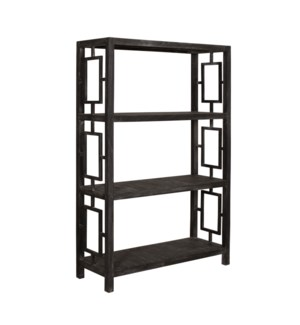 "Madison 47""W Tall Shelving, Black Wash"