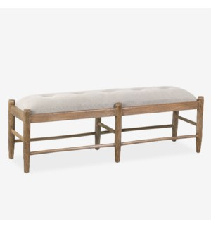 Addison Gray Upholstered Bench, Brown