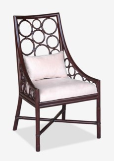 (LS) Roman Side Chair - Wenge  (24x25x41.5)