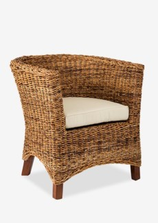 (LS) U Chair Abaca Small Astor w/ Cushion (28x27x30)