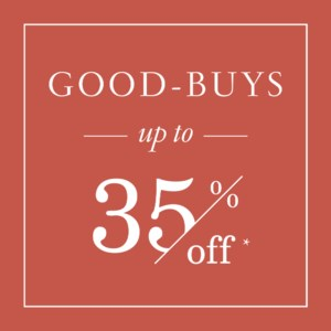 Good Buys (Up to 35% Off*)