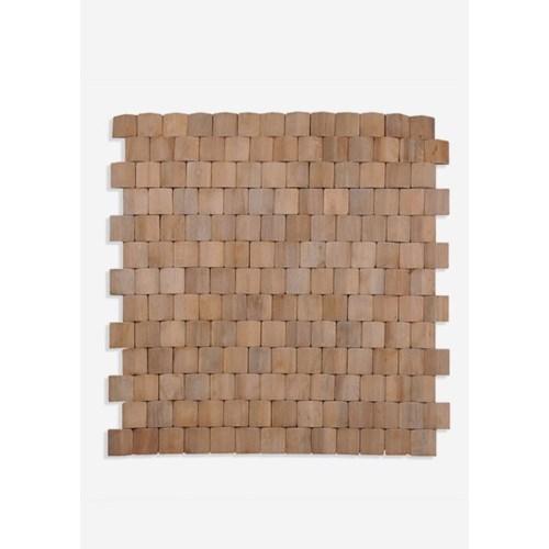 Terrace Wood Mosaic - Natural (15.75X1x15.75) = 1.72 sqft
