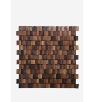 Terrace Wood Mosaic - Multi Brown (15.75X15.75X0.2) = 1.72 sqft