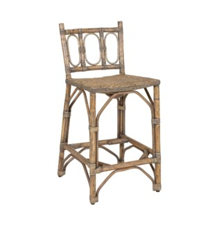 Fela Rattan Counterstool, Grey Wash