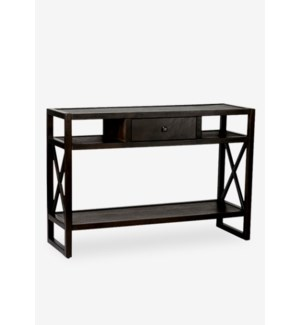 (LS) Durban Brown Rectangular Console Table - KD..(46 X 15 X 31.5)