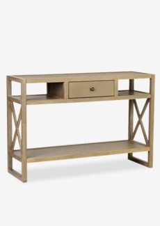 (LS) Durban Grey Rectangular Console Table - KD ..(46x15x32)