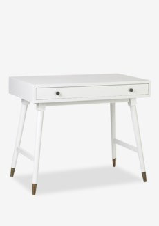 (SP) Whitmire White Rectangular Desk - KD..(36 X 20 X 25.2)