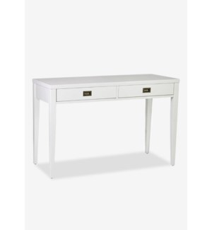 Spade White Rectangular Console Table/Desk - KD..(48 X 20 X 30.5)
