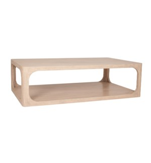 "Archie 47"" Coffee Table, Beech Finish"