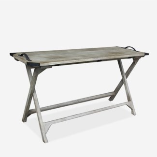 Galveston Vintage Grey Folding Console Table (K/D) (55x20x30)