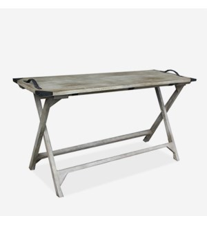 (LS) Galveston Vintage Grey Folding Console Table (K/D) (55x20x30)