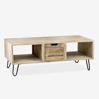 (SP) Britt 3 Drawer Coffee Table (47.6x27.5x17.7)