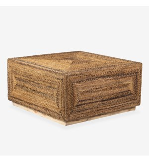 Soren Braided Seagrass Coffee Table, Natural