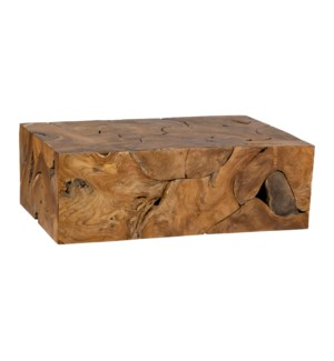 Burl Organic Coffee Table (47x31.5x16)