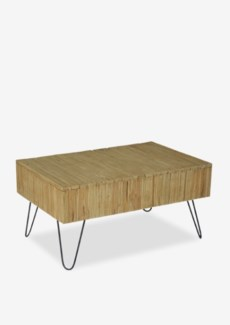 (LS) Sycamore Vintage Wash Cocktial Table with Angle Metal Leg (K/D) (35x24x18)..