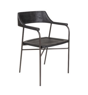 Zephyr Dining Arm Chair, Bronze 20x21x30