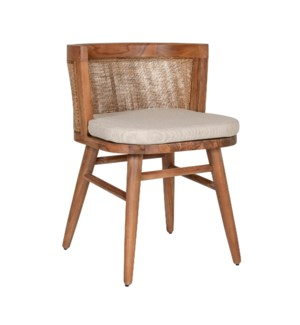 Loe Dining Chair, Cane/Teak 20x22x28
