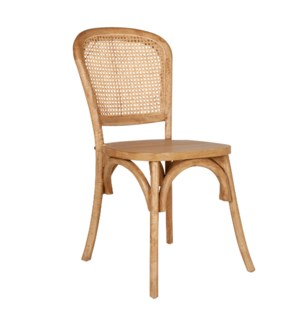 Toney Dining Side Chair, Cane/Natural- Set 2 (package: 2pcs/box) price is per pair