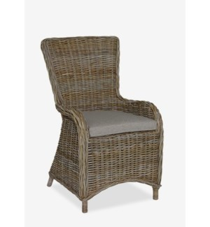 (LS) Irisbay Arm Chair With Natural Grey Rattan (22x24x39)