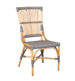 Brea Bistro Side Chair, Natural and Grey, 20x25x39 - MOQ 2 (2 pcs per box) priced per piece