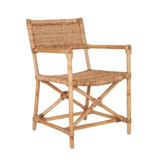 Martine Dining Arm Chair, Natural