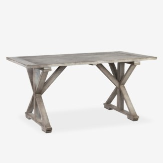 (LS) Cross Base Dining Table (K/D) (63x29.5X33.5)
