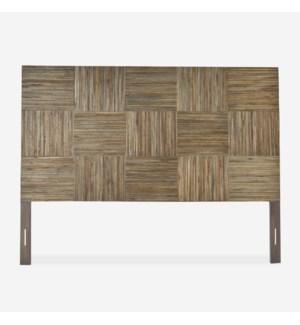 (LS) Hagen headboard block pattern - King - Grey wash (79x2.5x60)..