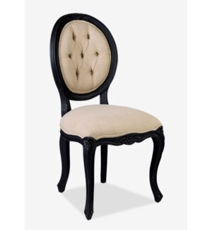 (LS) Janice Dining Chair - Vintage Black Frame(20X23X40)..