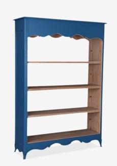 (LS) La Salle Open Bookcase (wide) (49x16x70)-Blue bretagne