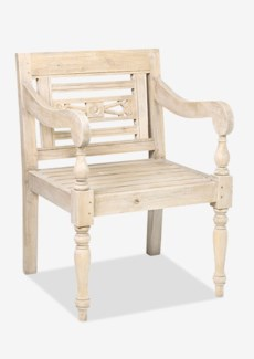 Promenade Carved Wood Chair..(23.75X25X34.25)..