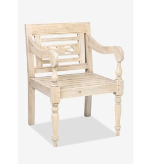 (LS) Promenade Carved Wood Chair..(23.75X25X34.25)..