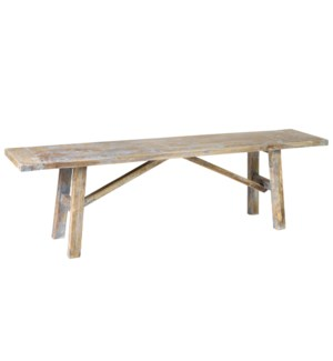 """(SP) Promenade Carved Wood Bench 63""""..(63X13.5X18)...."""