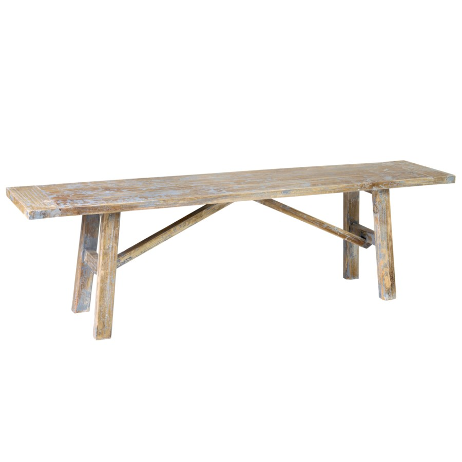 """Promenade Carved Wood Bench 63""""..(63X13.5X18)...."""