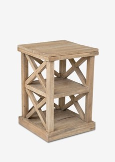 "Promenade 25"" tall cross side table (17X17X25)"