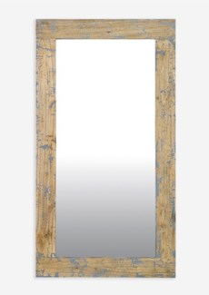 (LS) Promenade painted Rectangle mirror - Antique Grey (51X28X2)....
