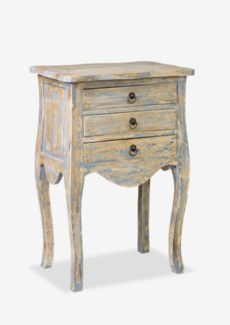(LS) Promenade Painted 3 Drawer Accent Table- Antique Grey..(19.75X13.5X29)..