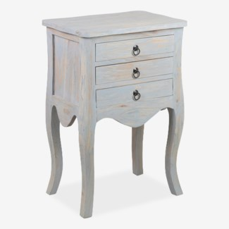 Promenade 3 drawer accent table - grey..(19.75X13.5X29)..