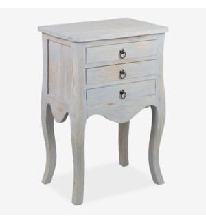 (LS) Promenade 3 drawer accent table - grey..(19.75X13.5X29)..